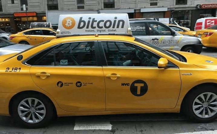 Pagando un taxi con bitcoins